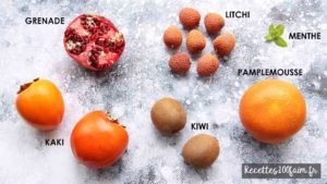 ingredients salade de fruits hiver kaki