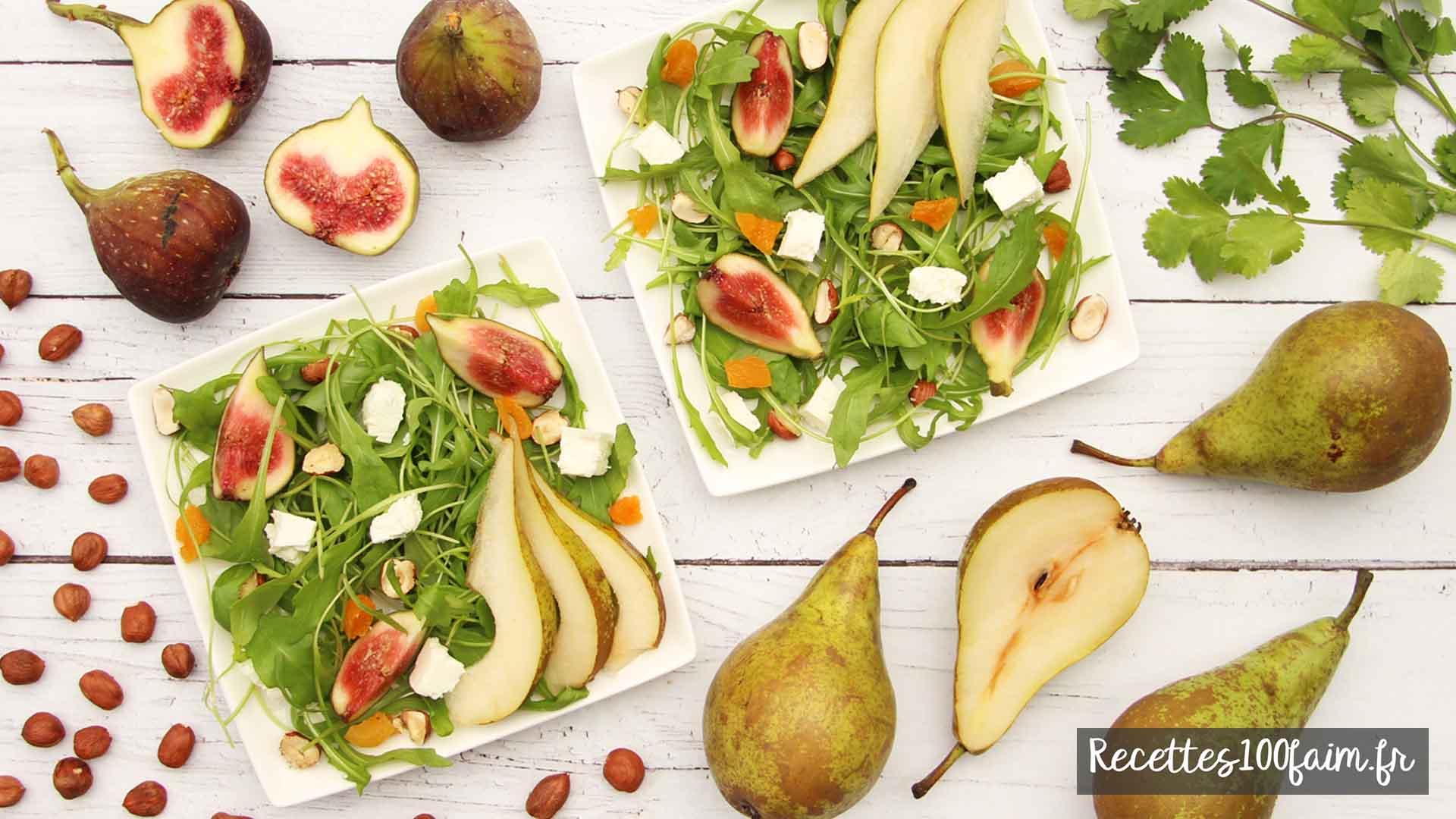 recette salade figue poire