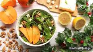 recette salade lentille kaki