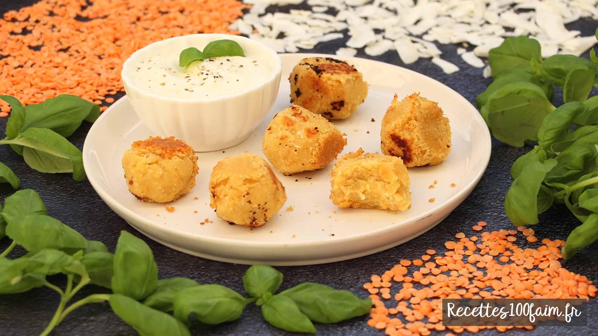 recette boulette lentille corail coco