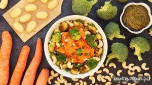 recette bowl gnocchi pesto brocoli