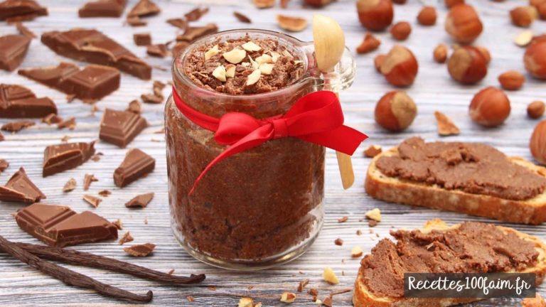 recette pate a tartiner chocolat au lait noisette vanille