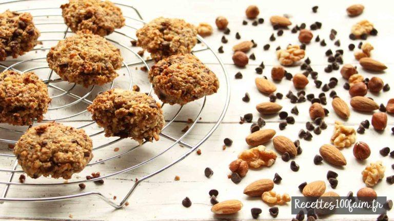 recette cookies chocolat noir noix noisettes amandes
