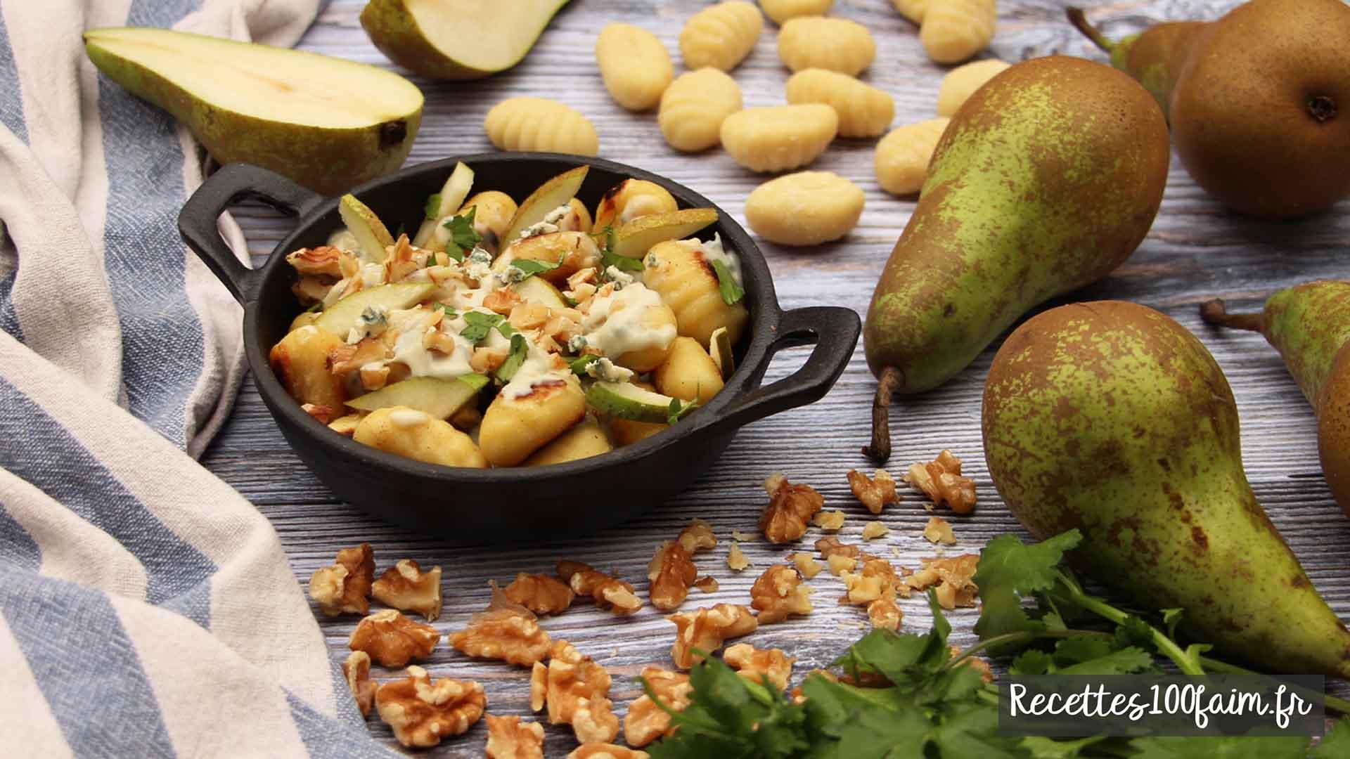 recette gnocchis bleu poire noix