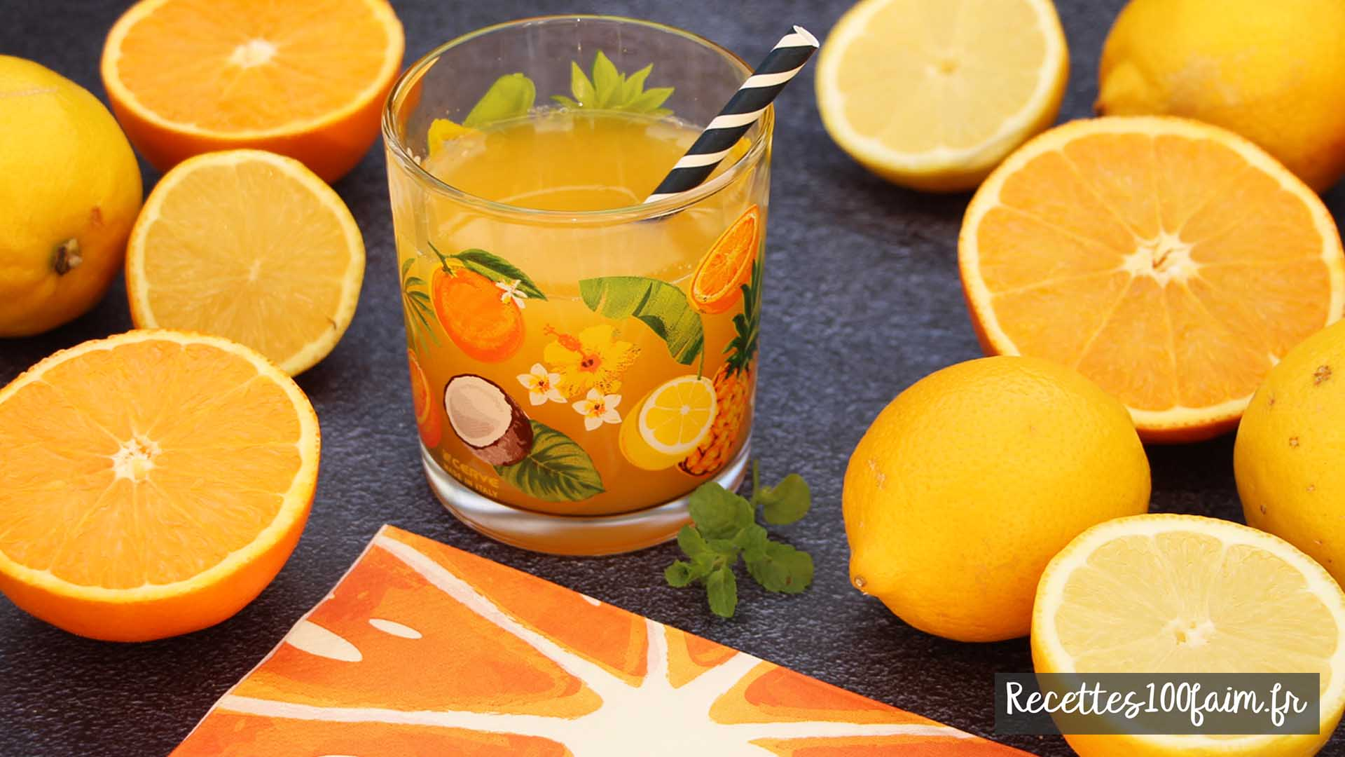 recette jus presse orange citron