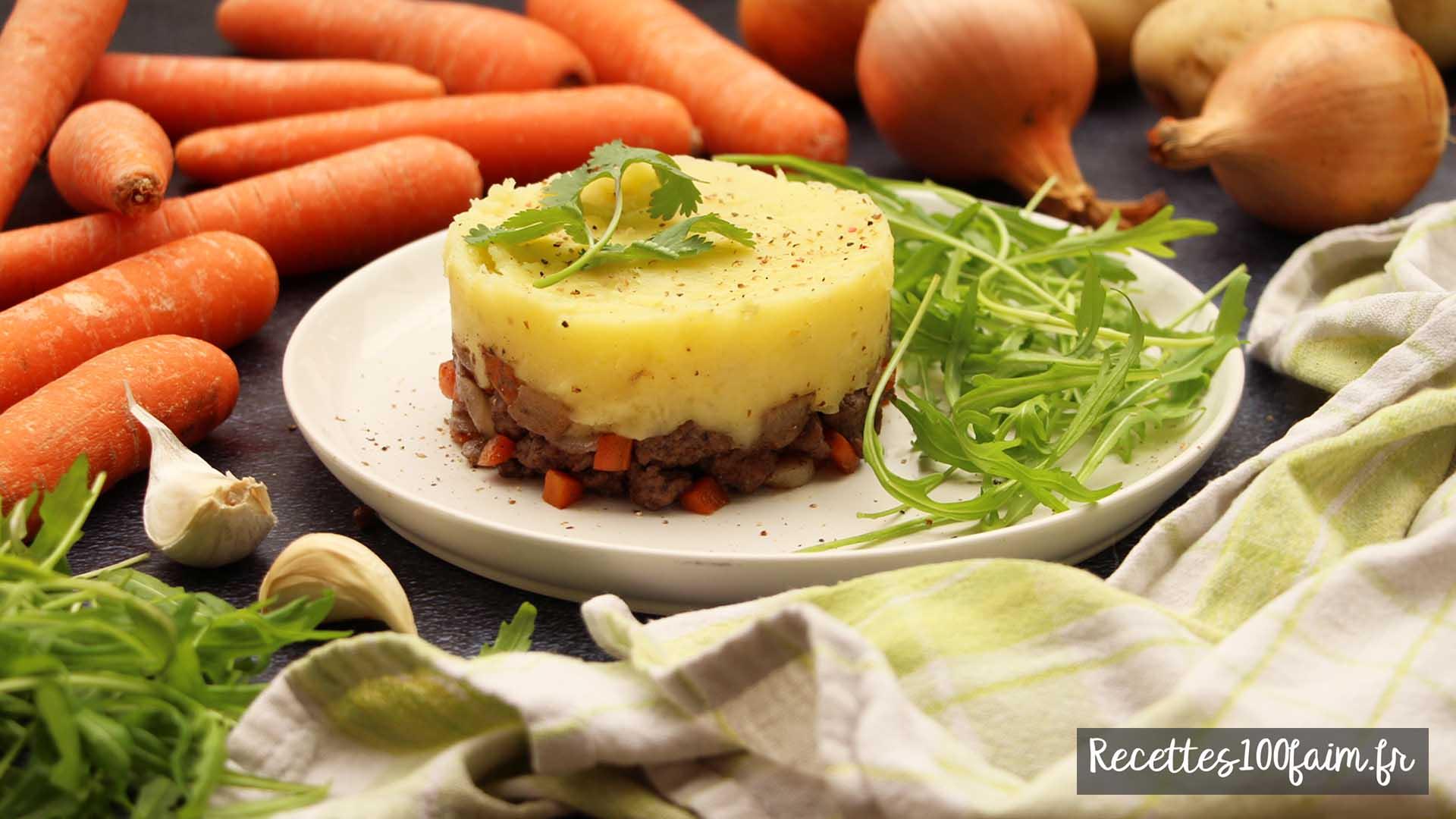 recette hachi parmentier boeuf carotte