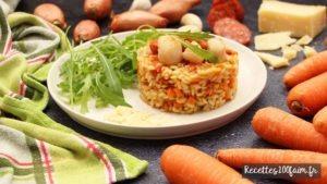 recette risotto st jacques chorizo carotte