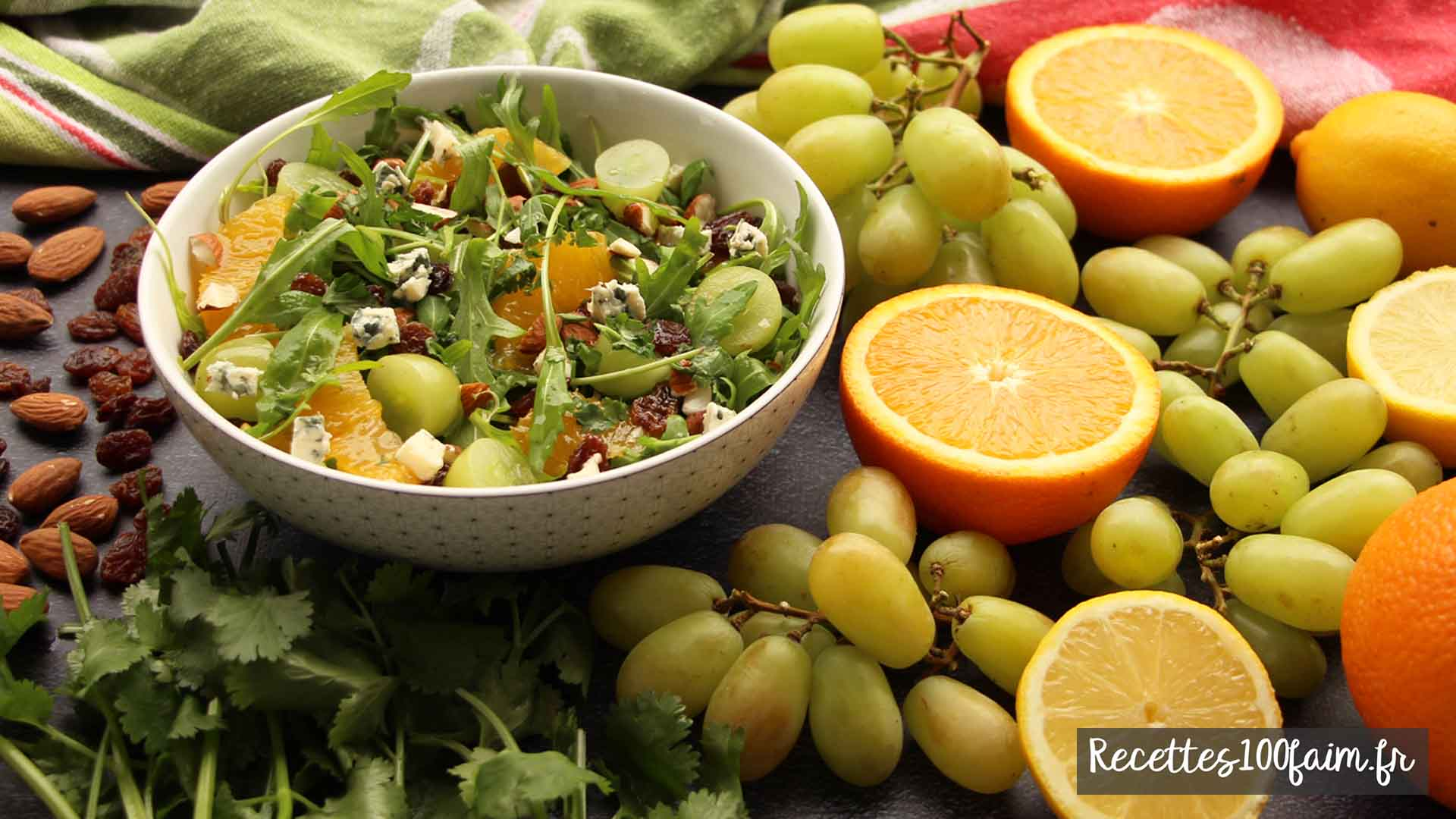 recette salade orange amande raisin