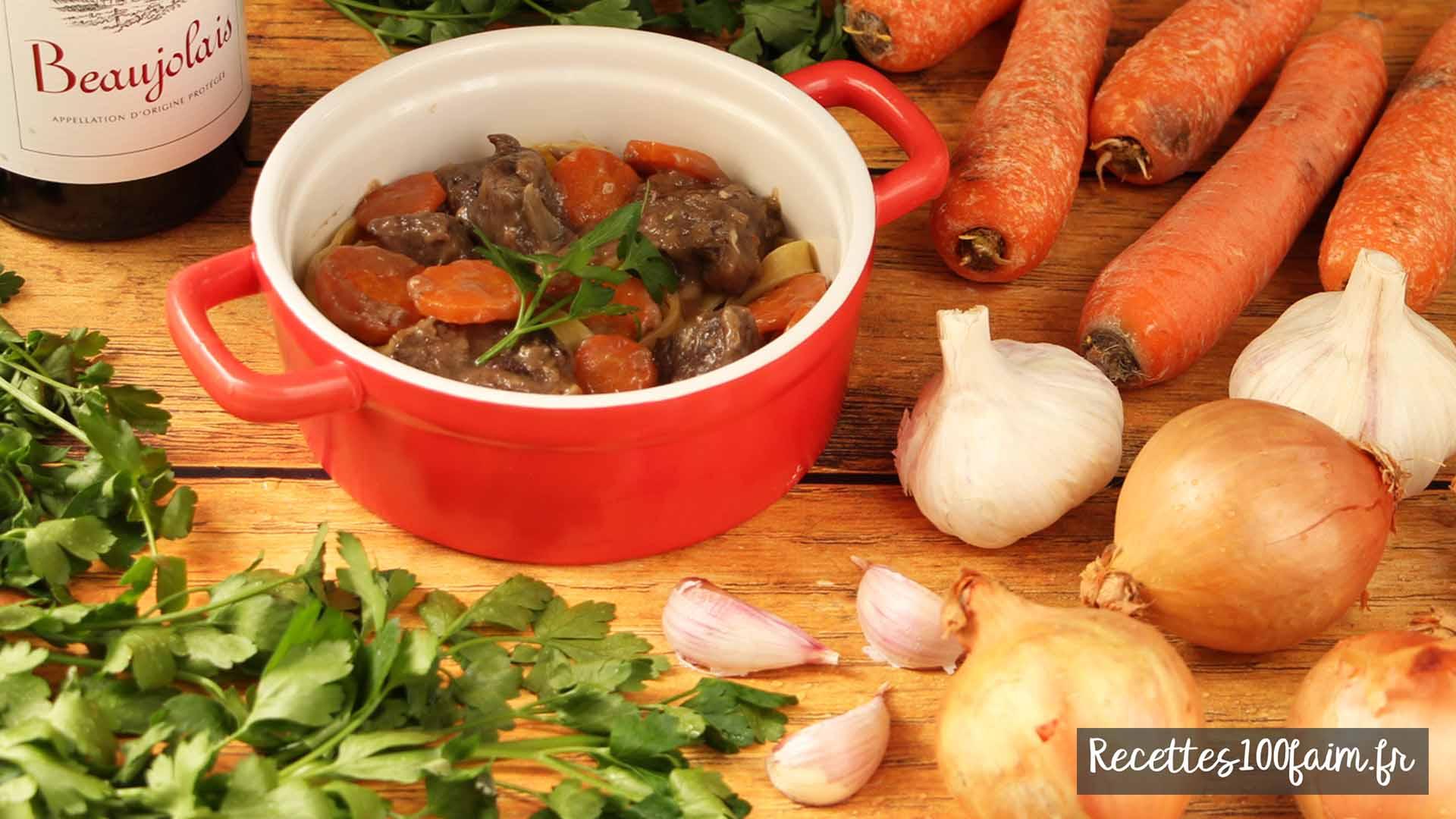 recette boeuf carottes facile