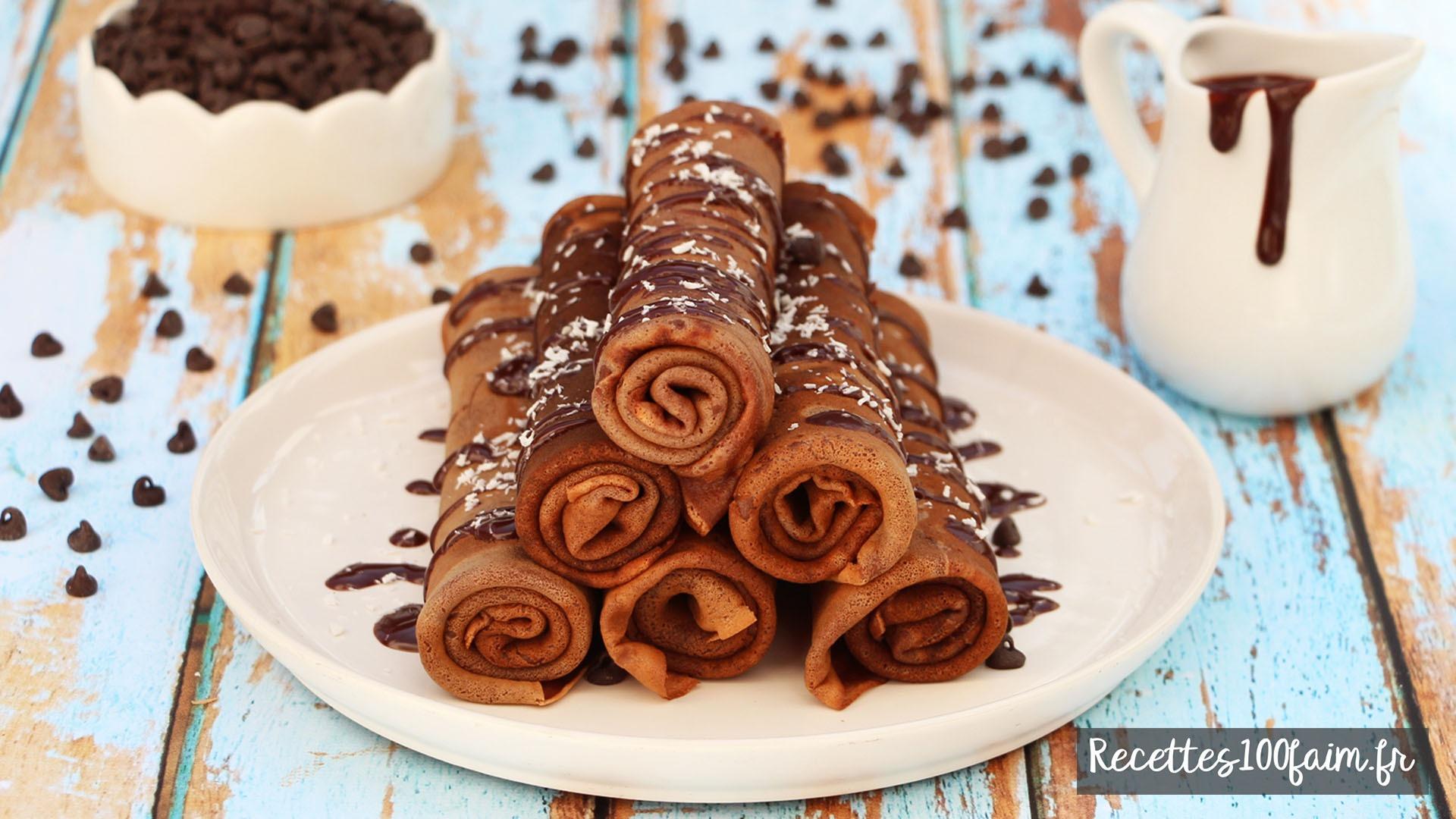 recette crepes au chocolat