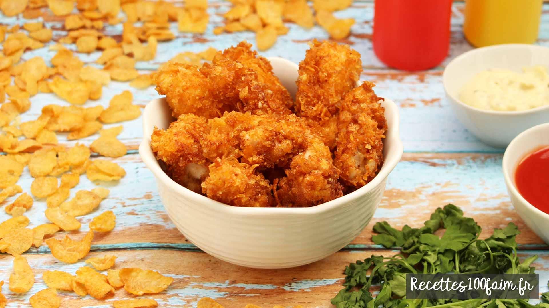 crispy tenders de poulet recette