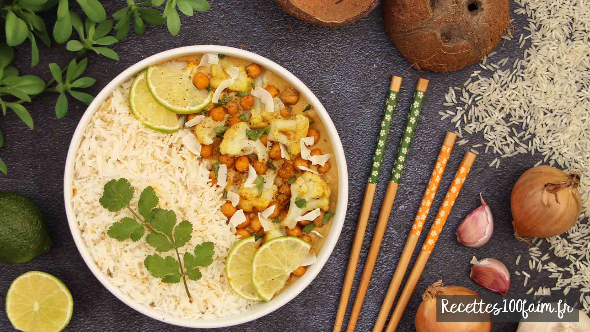 recette curry chou fleur pois chiches coco