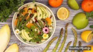 recette salade endive pomme orange asperge