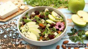 recette salade lentille betterave pomme