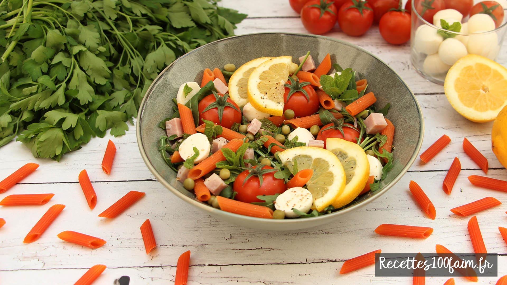 recette salade pates jambon tomate