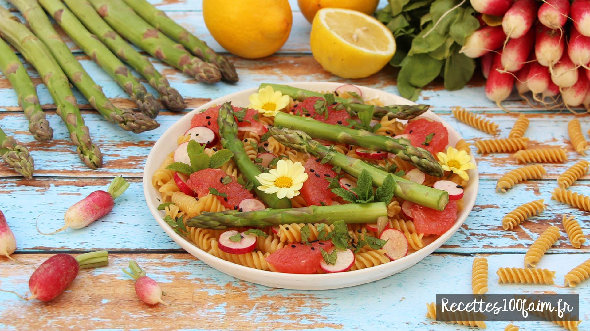 recette salade pates radis asperge