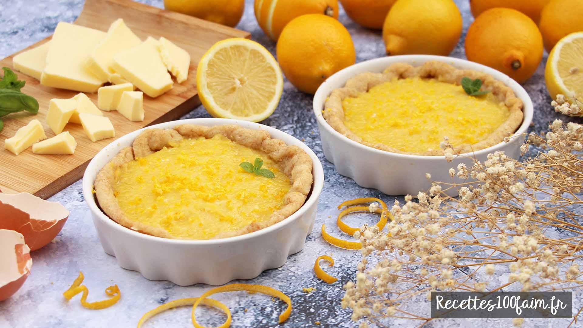 recette tarte lemon curd