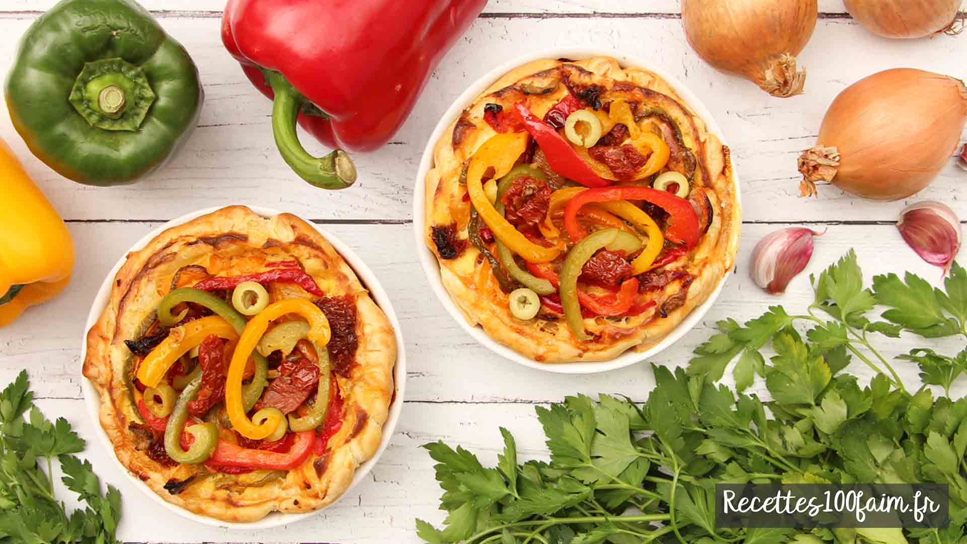 recette tarte poivron olive tomate sechee