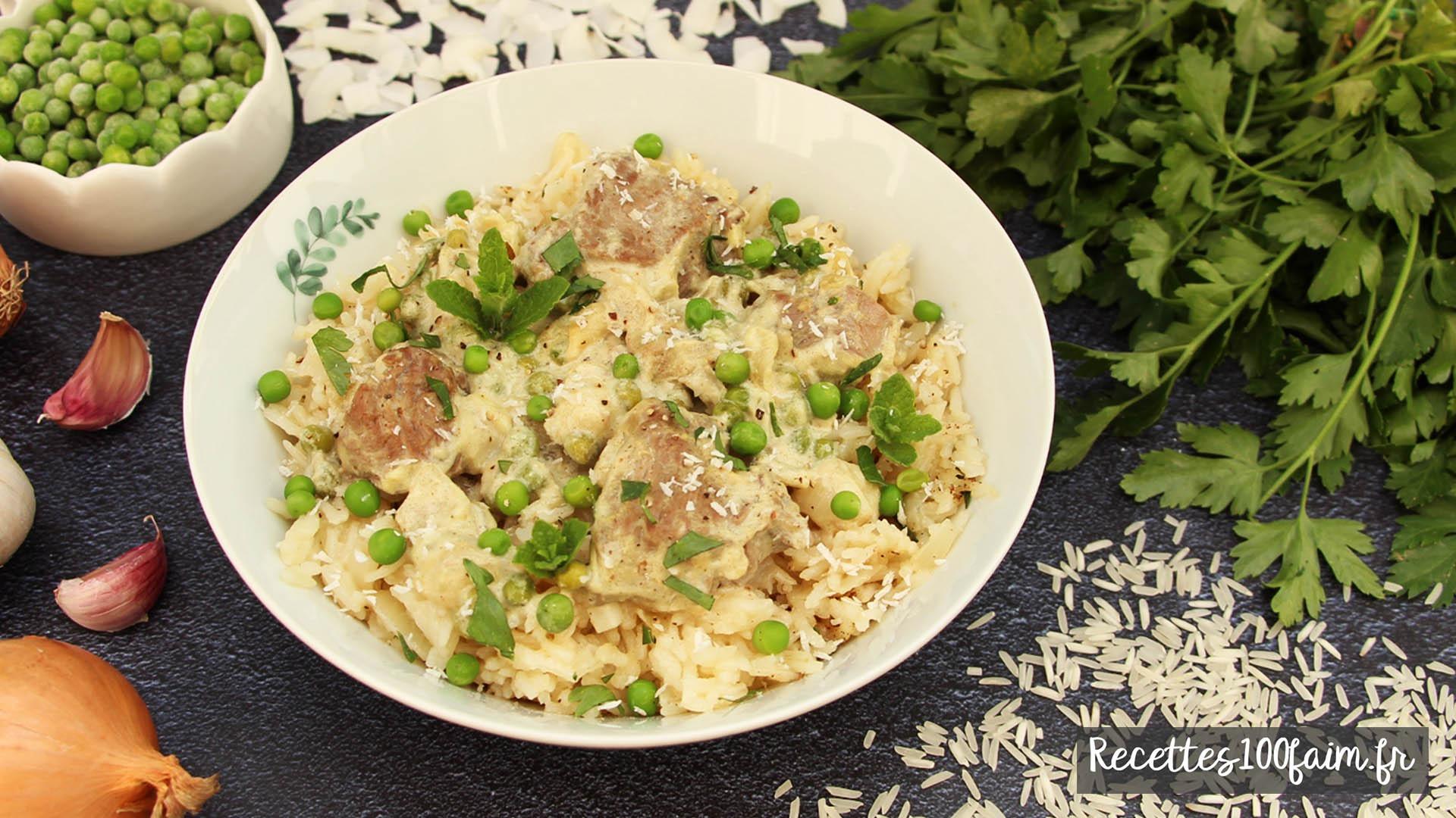 recette curry agneau petits pois coco