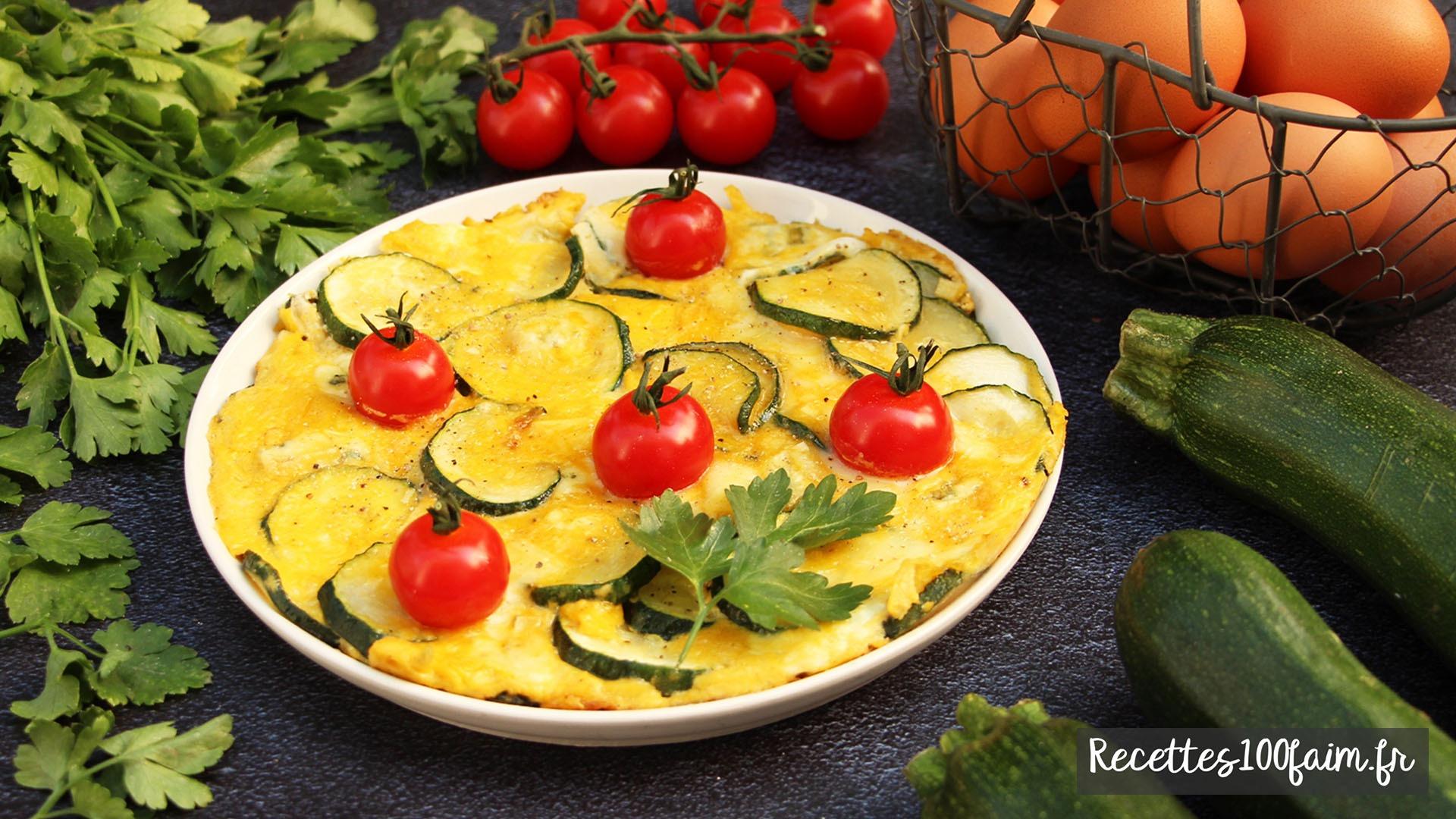 recette frittata courgette tomate
