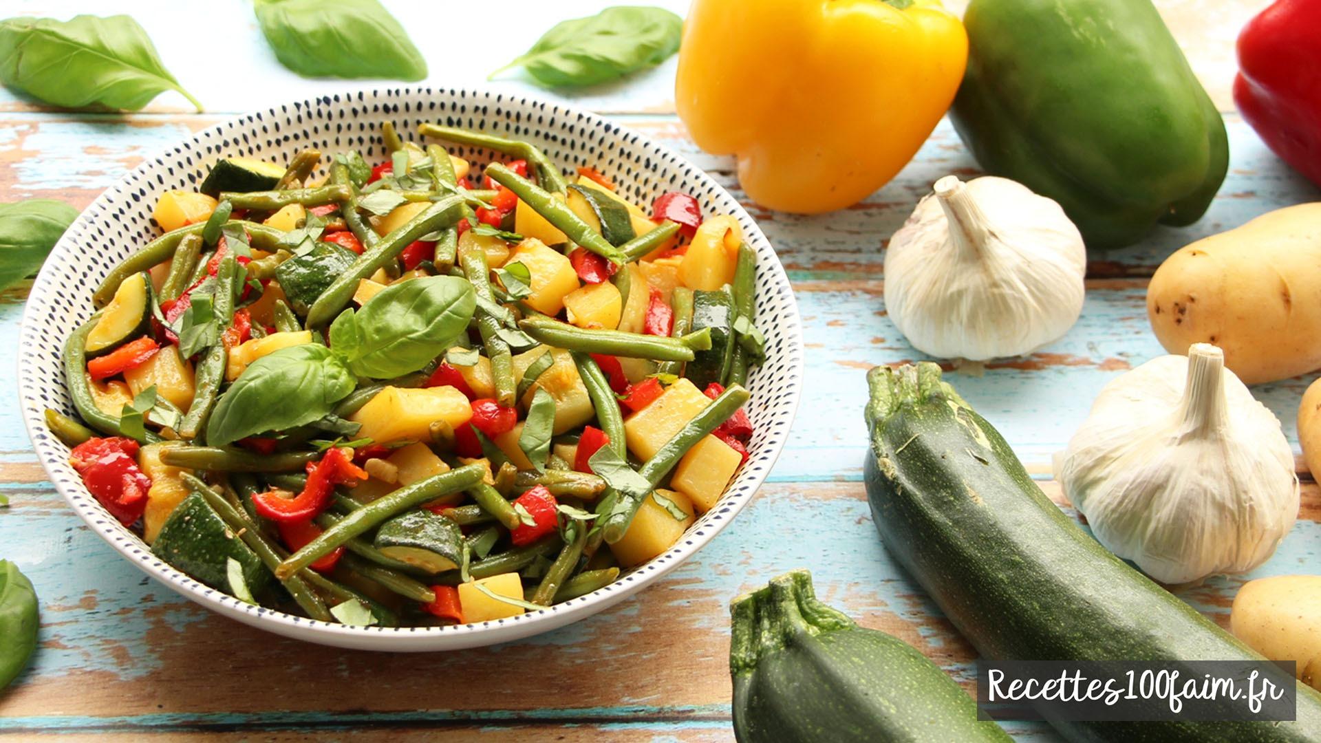 recette poelee pommes de terre legumes