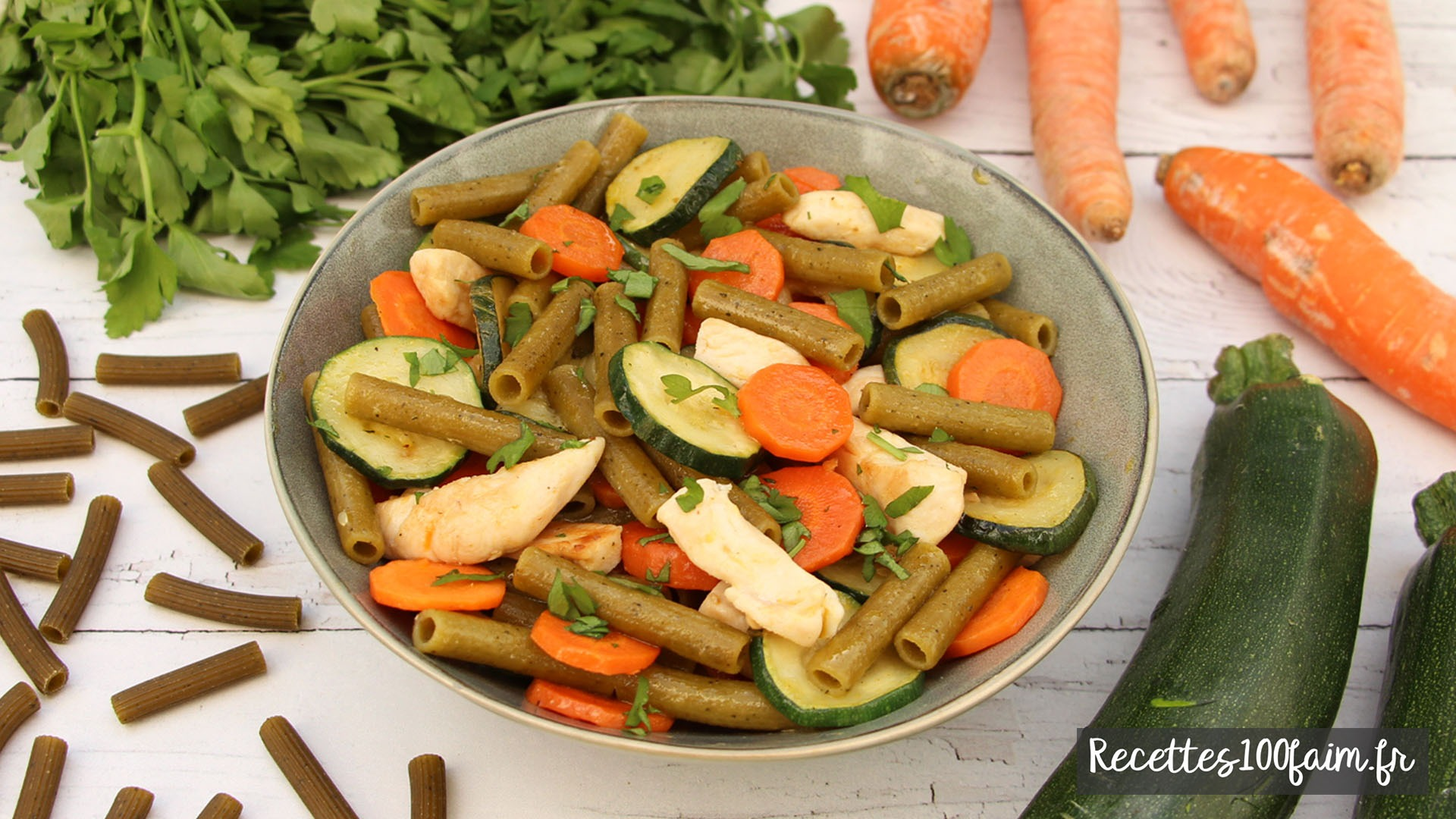 recette poelee poulet carotte courgette pates
