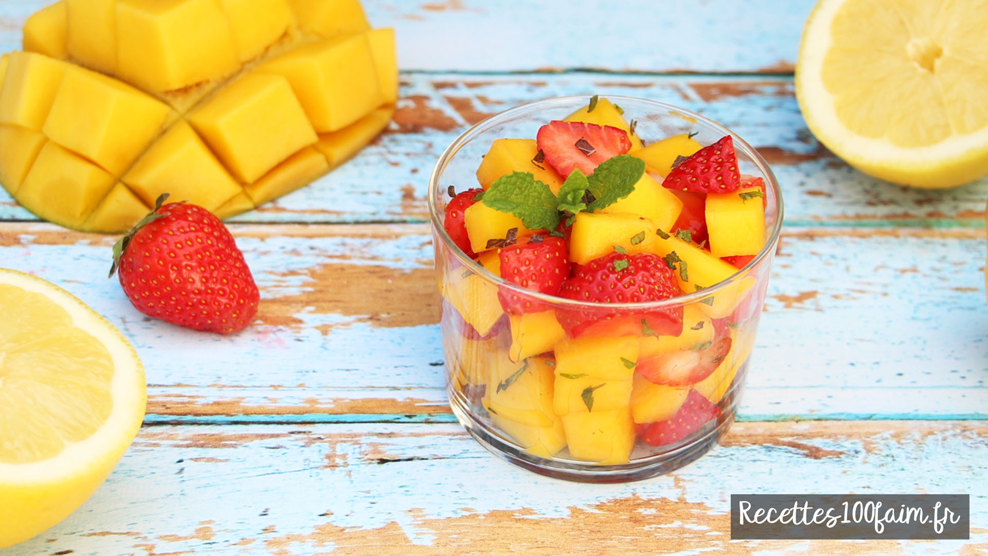 recette verrine fraise mangue