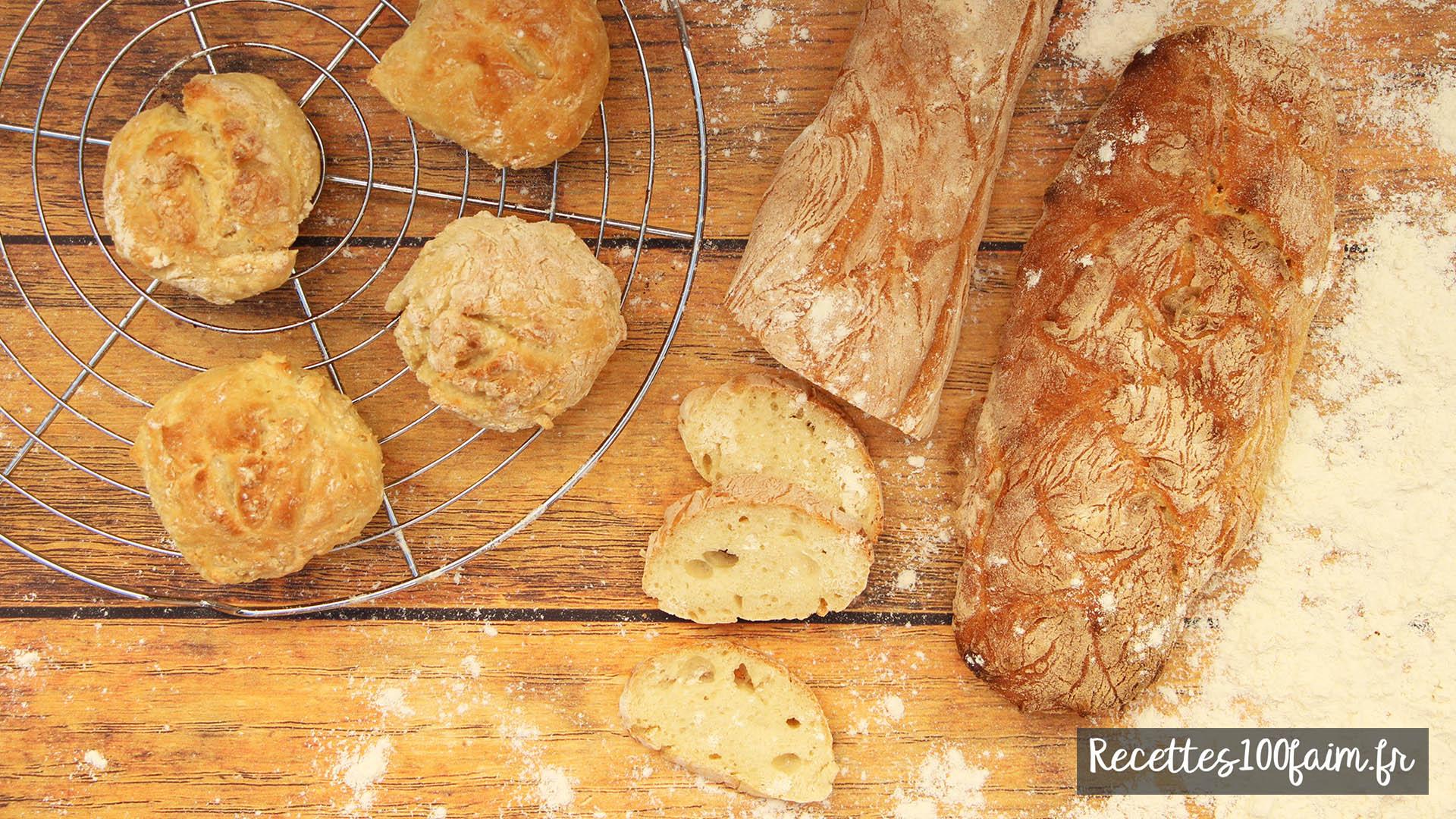 recette pain sans petrissage
