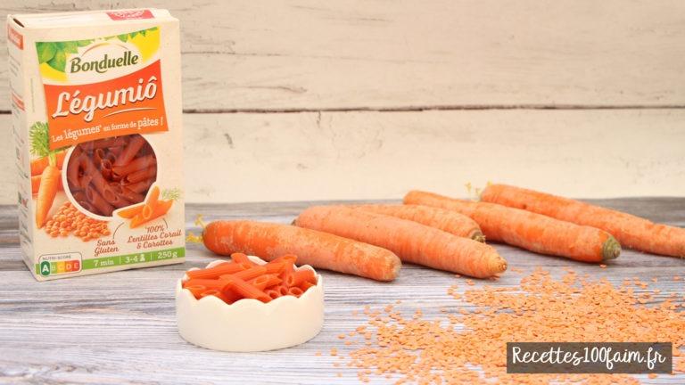 pates bonduelle legumio lentille corail carotte