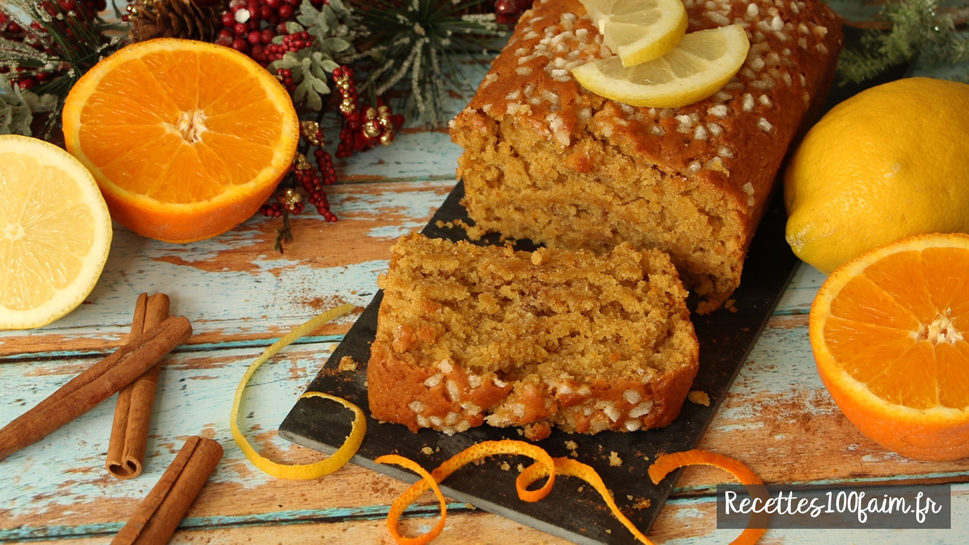 recette pain epices citron orange