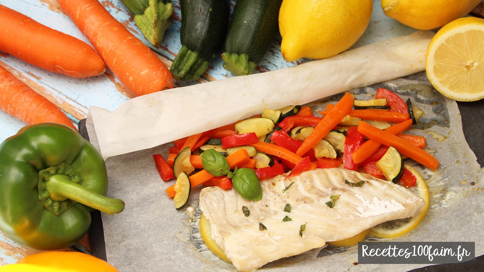 recette papillote poisson legumes