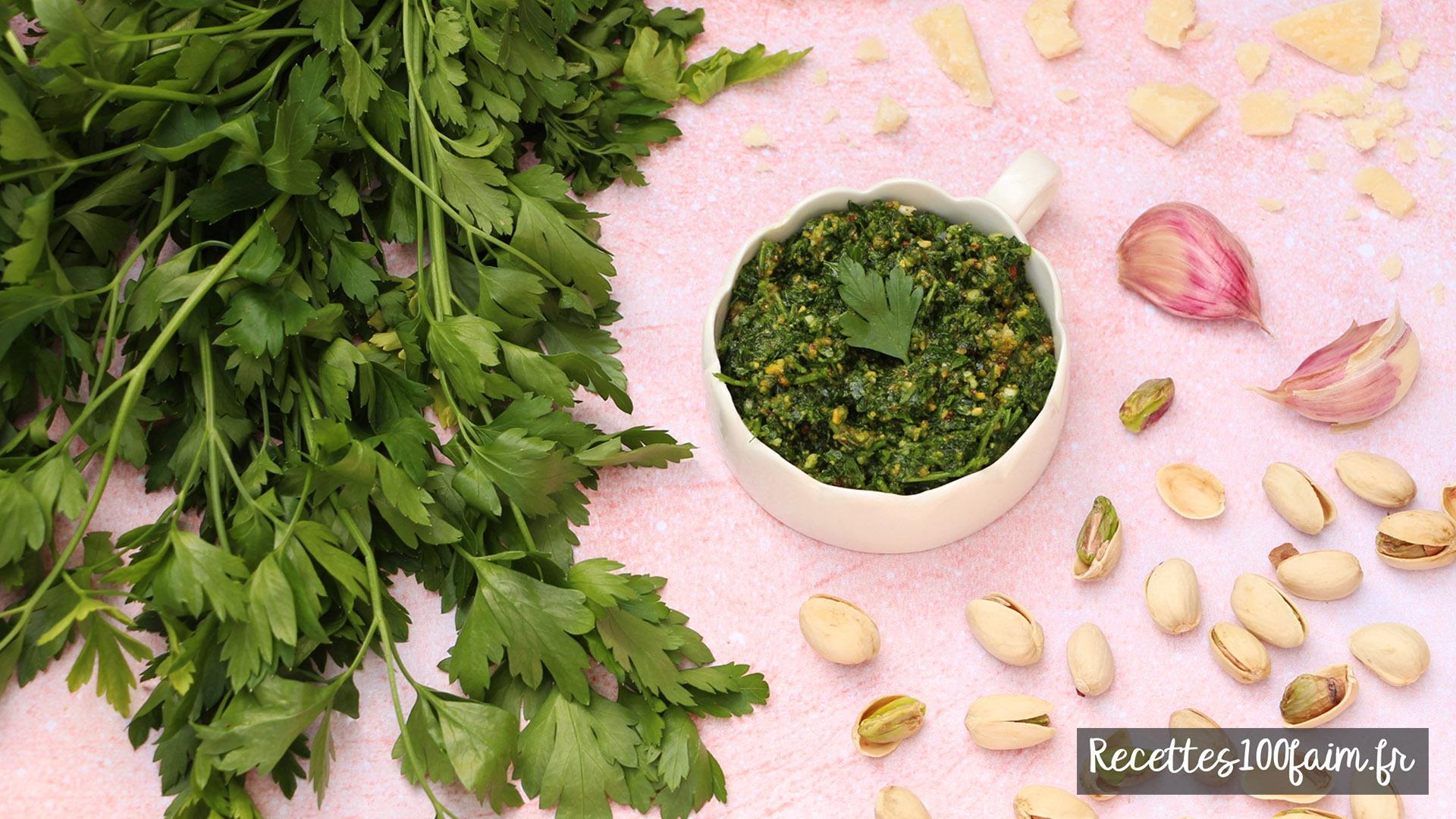 recette sauce pesto persil pistache