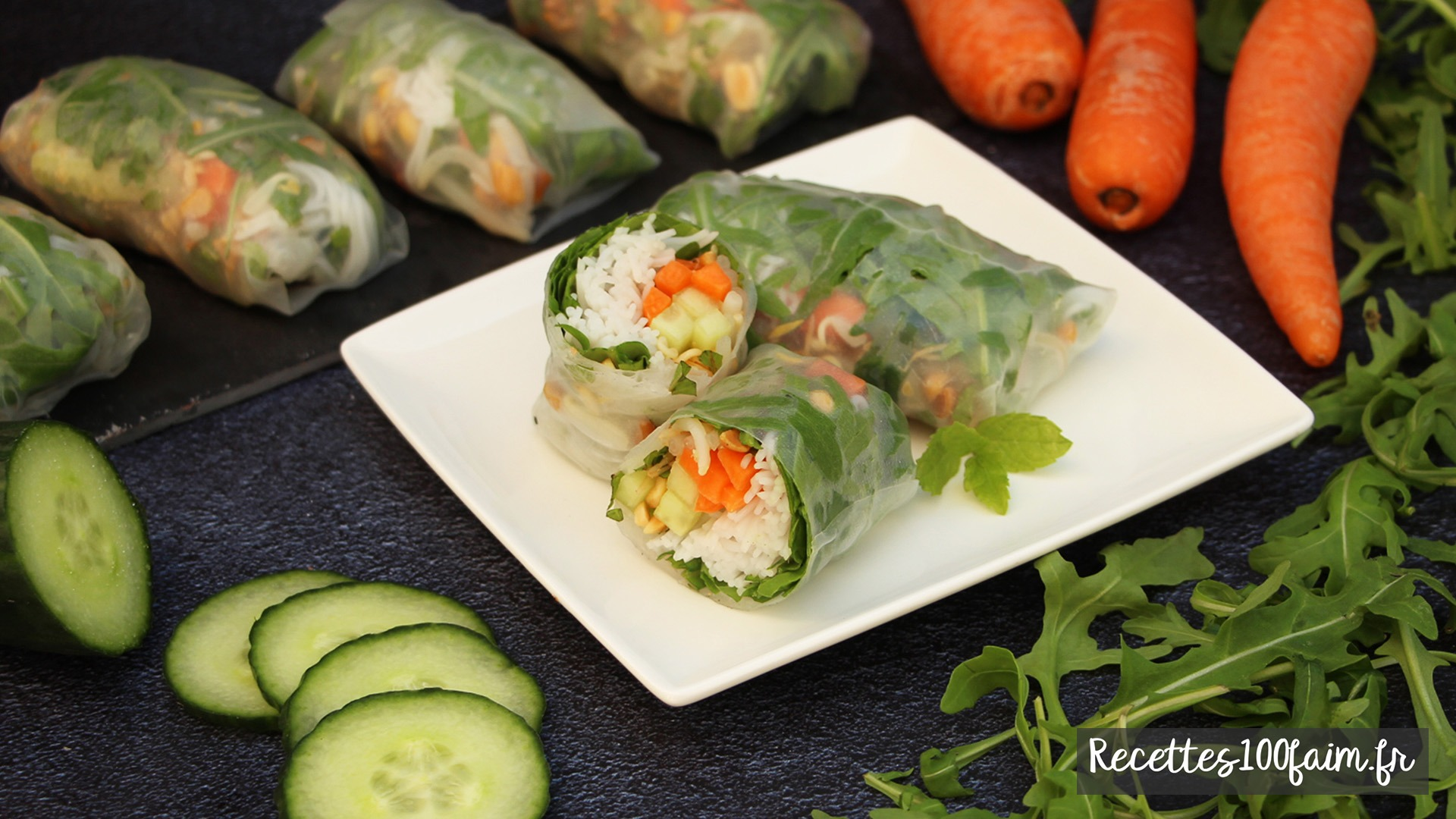 recette rouleaux de printemps vegetariens