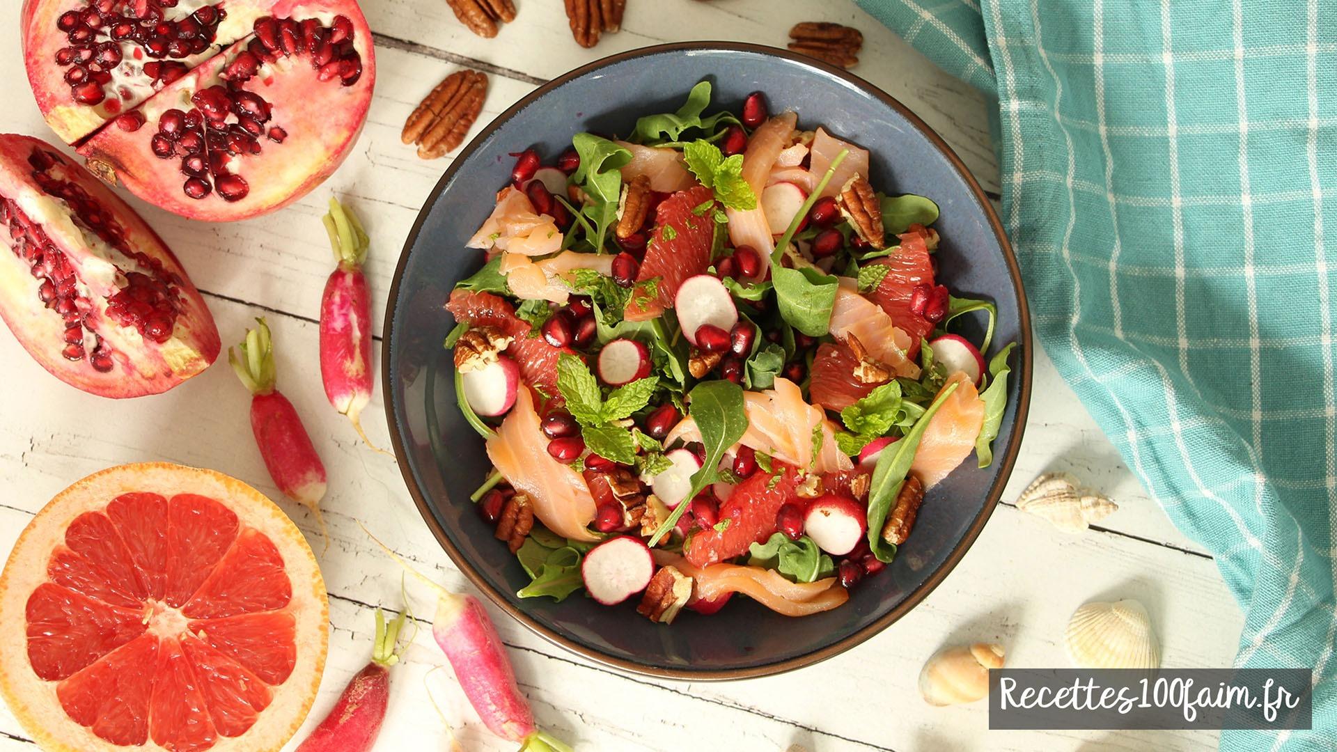 recette salade saumon grenade radis