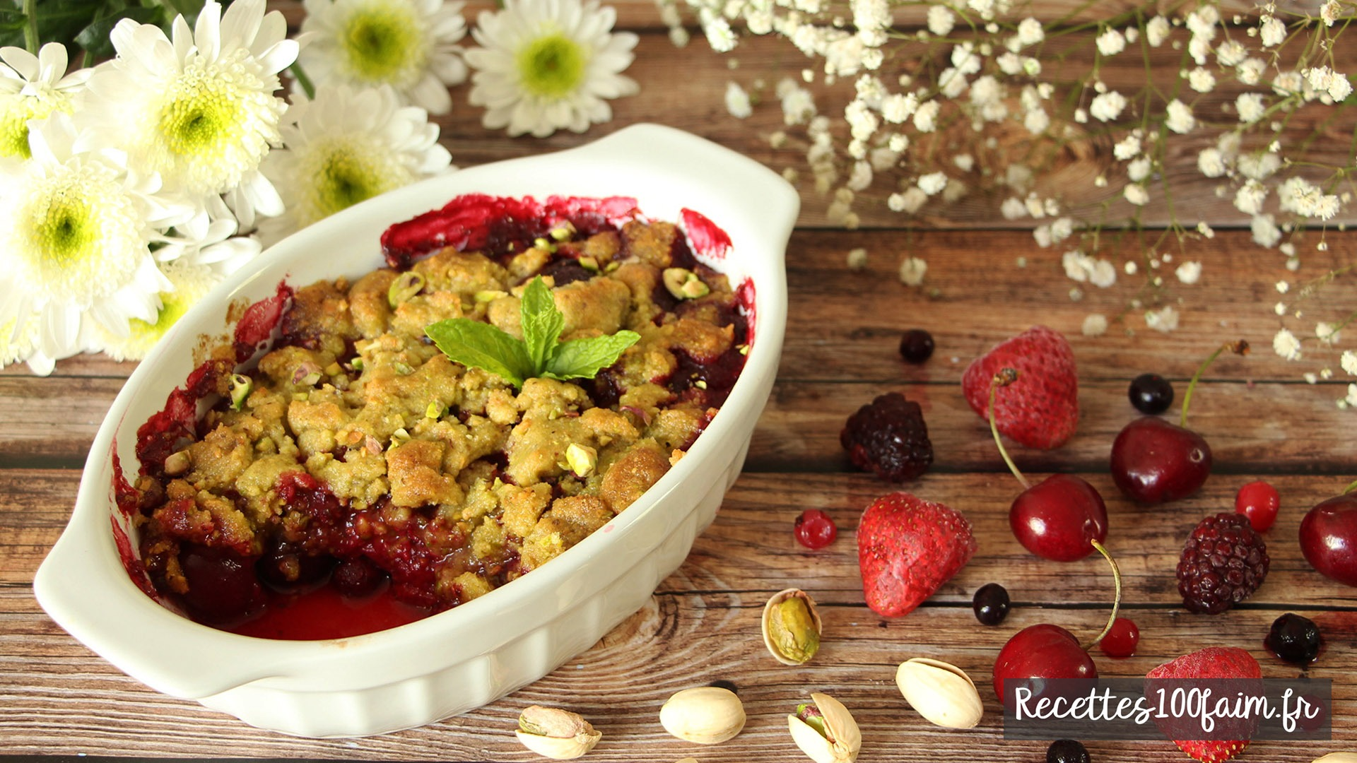 recette crumble fruits rouges istaches