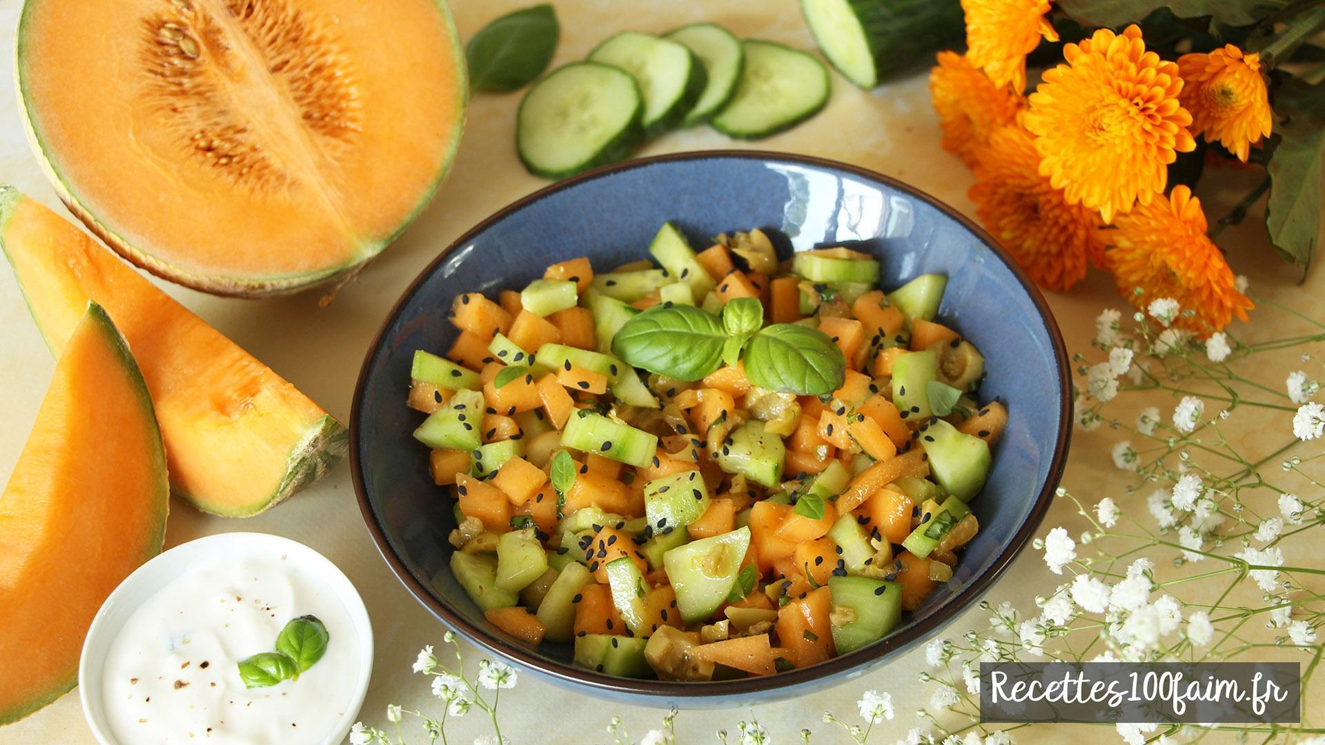 salade melon concombre olive