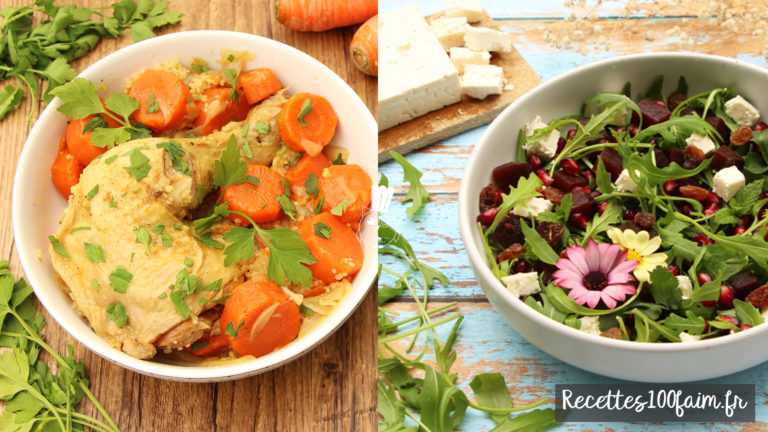 couscous poulet salade betterave lentille