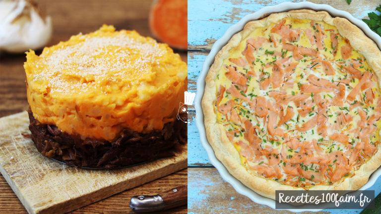 hachi parmentier canard tarte saumon