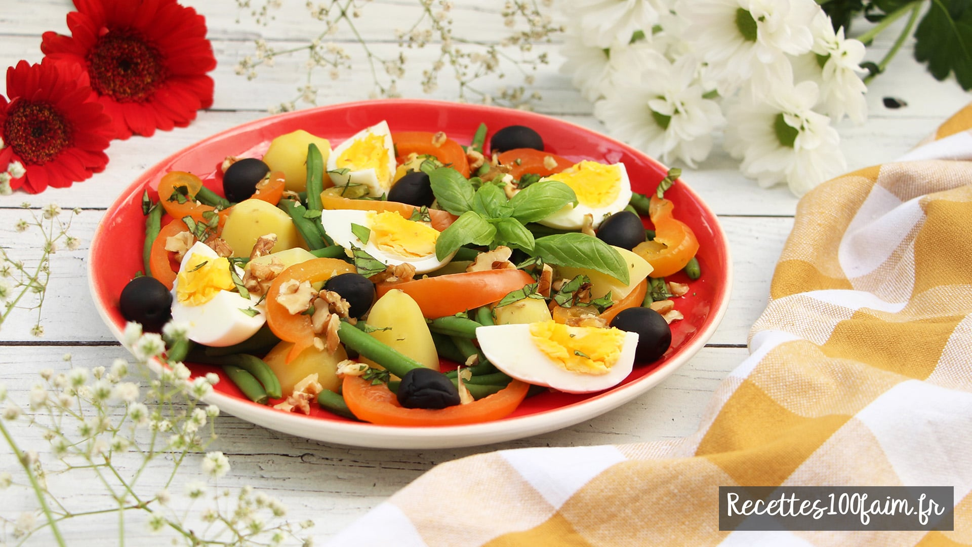recette salade patate oeuf haricot poivron