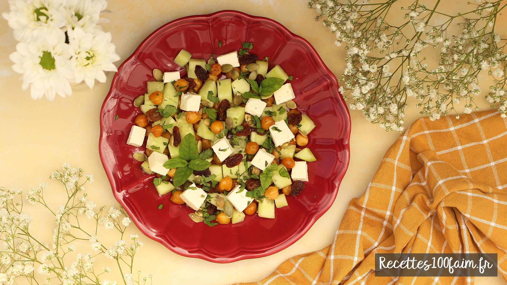 recette salade pois chiche concombre feta