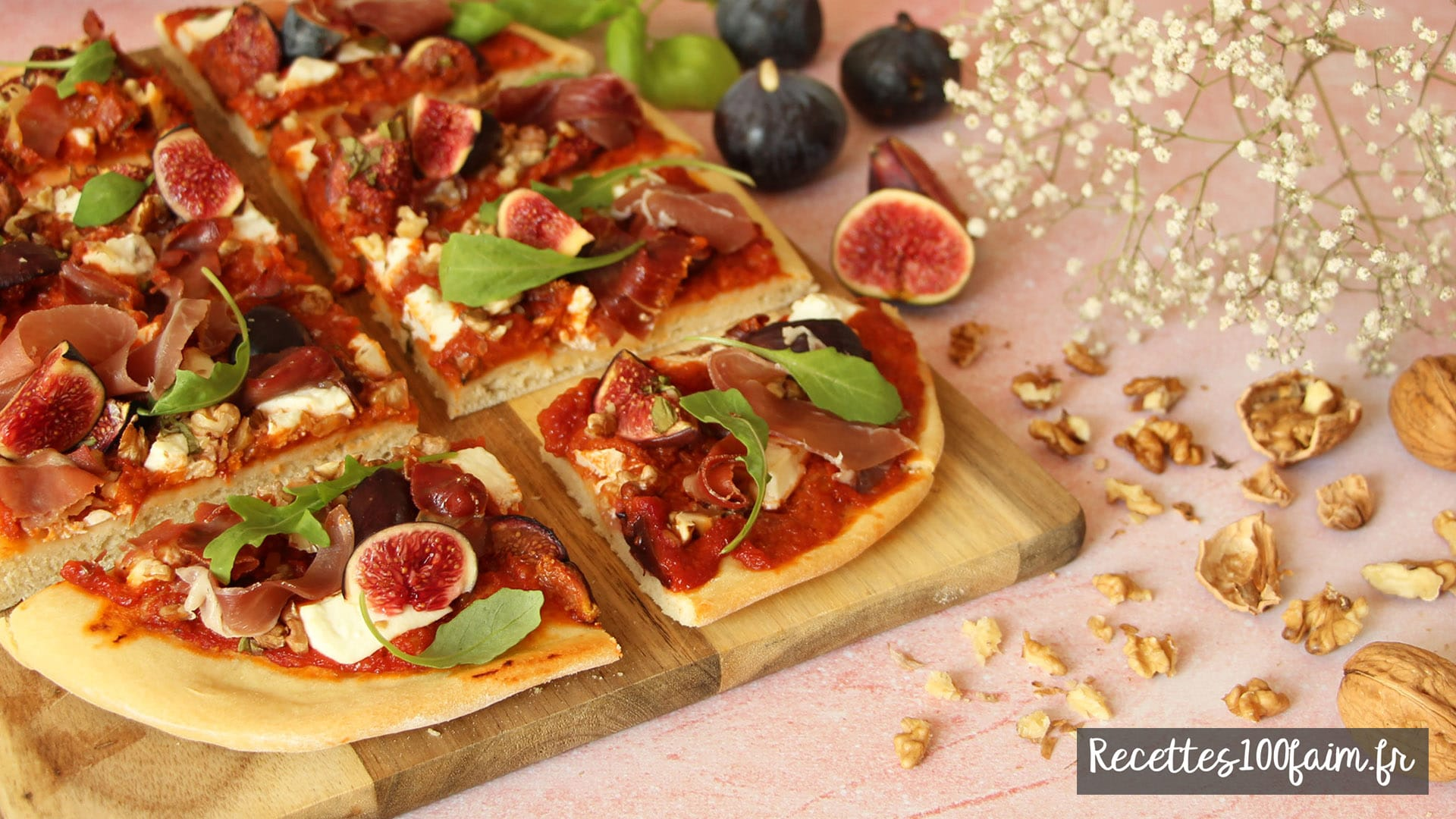 recette pizza figue chevre noix