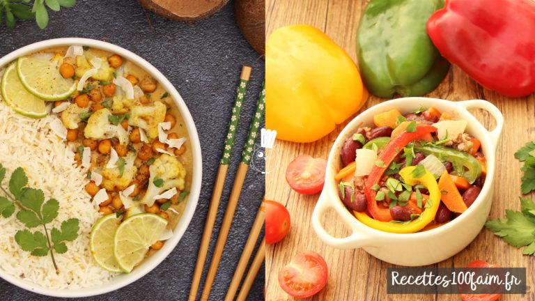 recette gluten curry chili