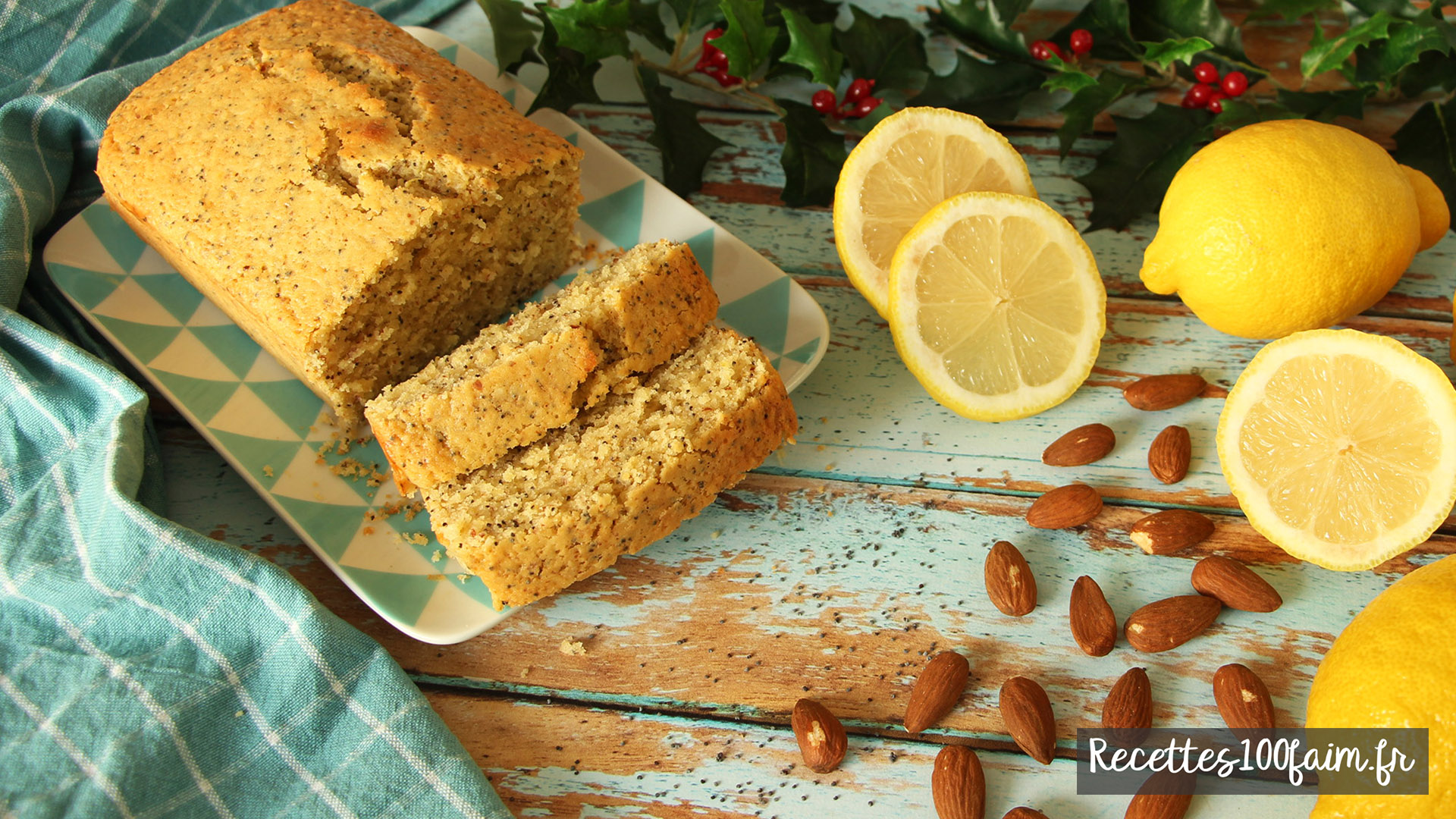 recette dessert cake amande citron