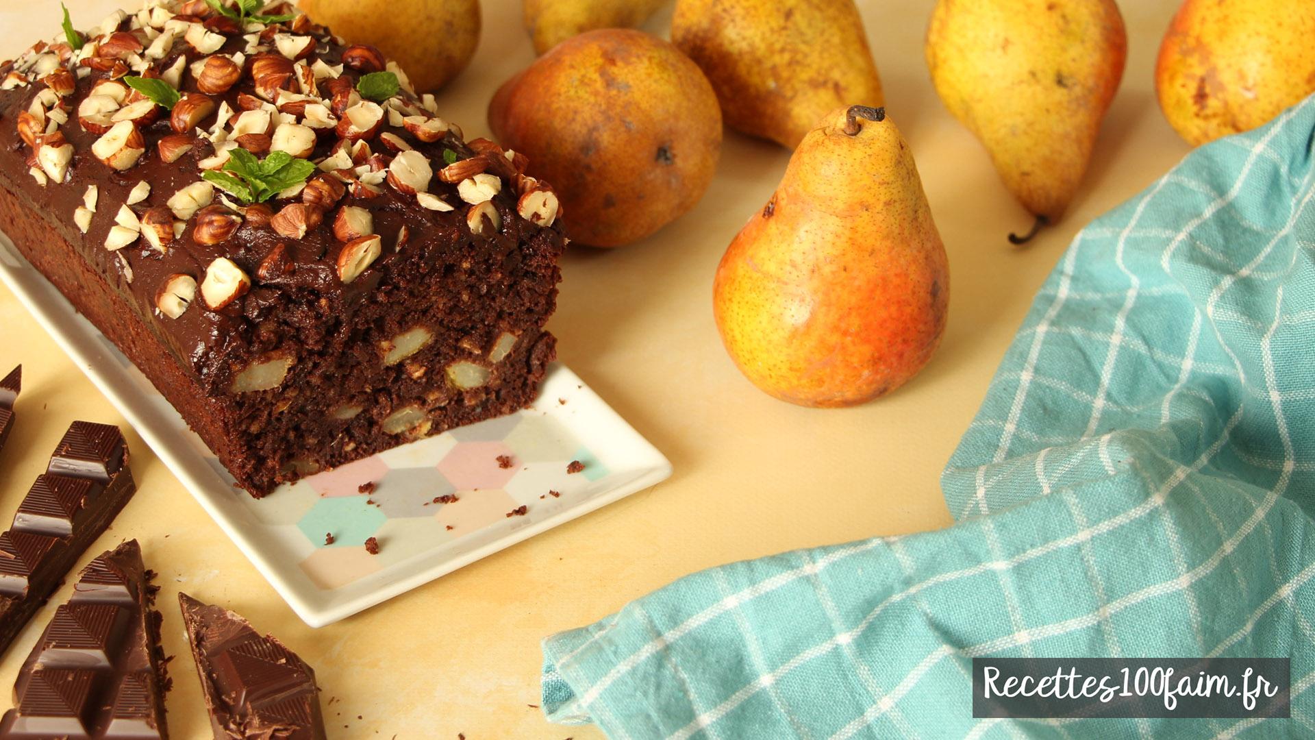 recette cake poire chocolat noir noisette