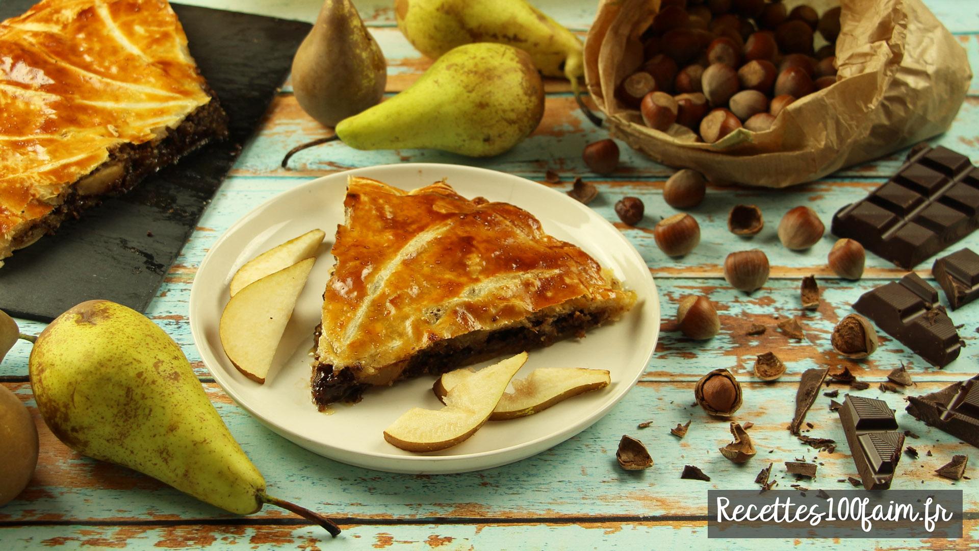 recette galette des rois poire chocolat noisette
