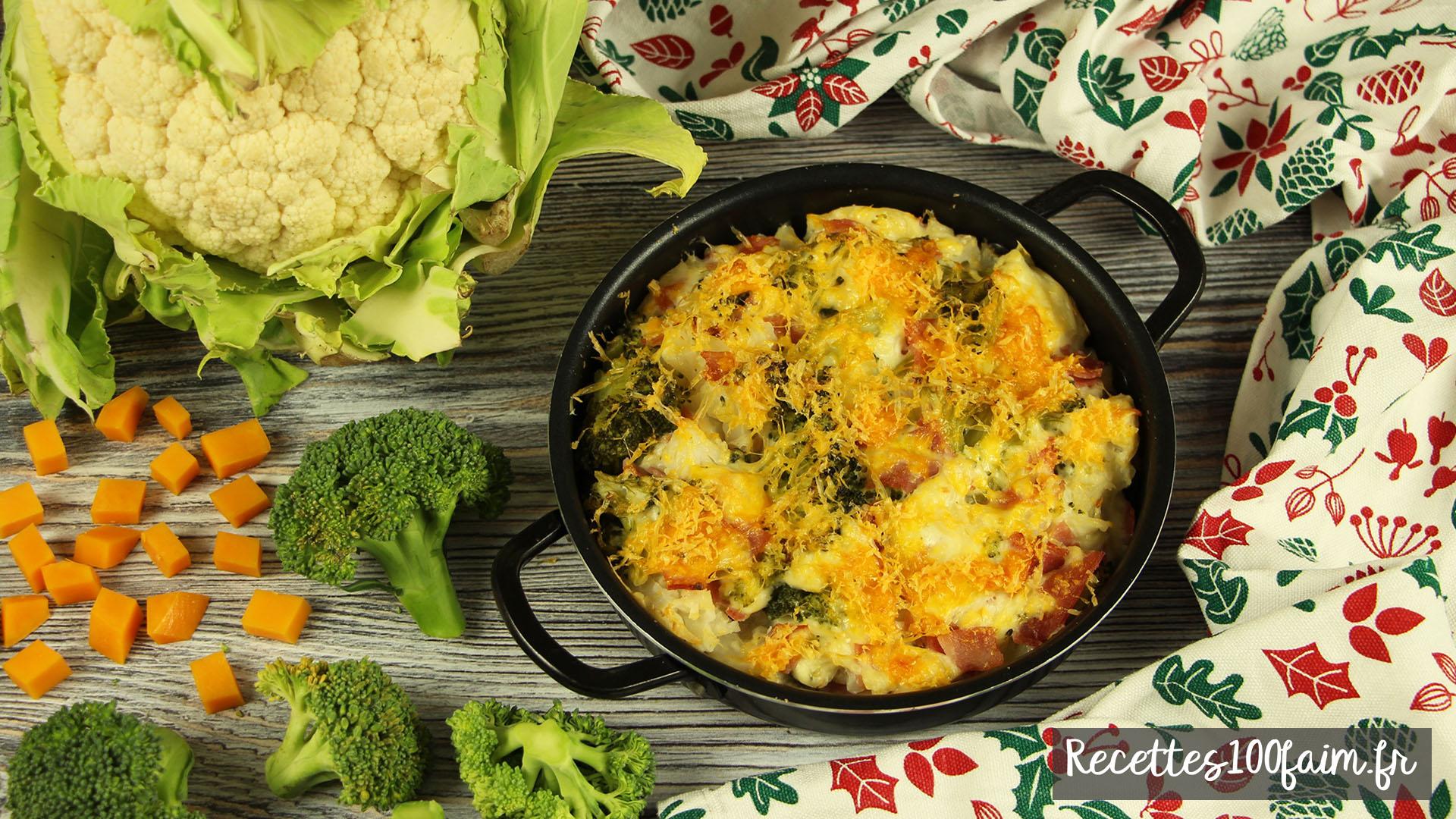 recette gratin chou bechamel jambon