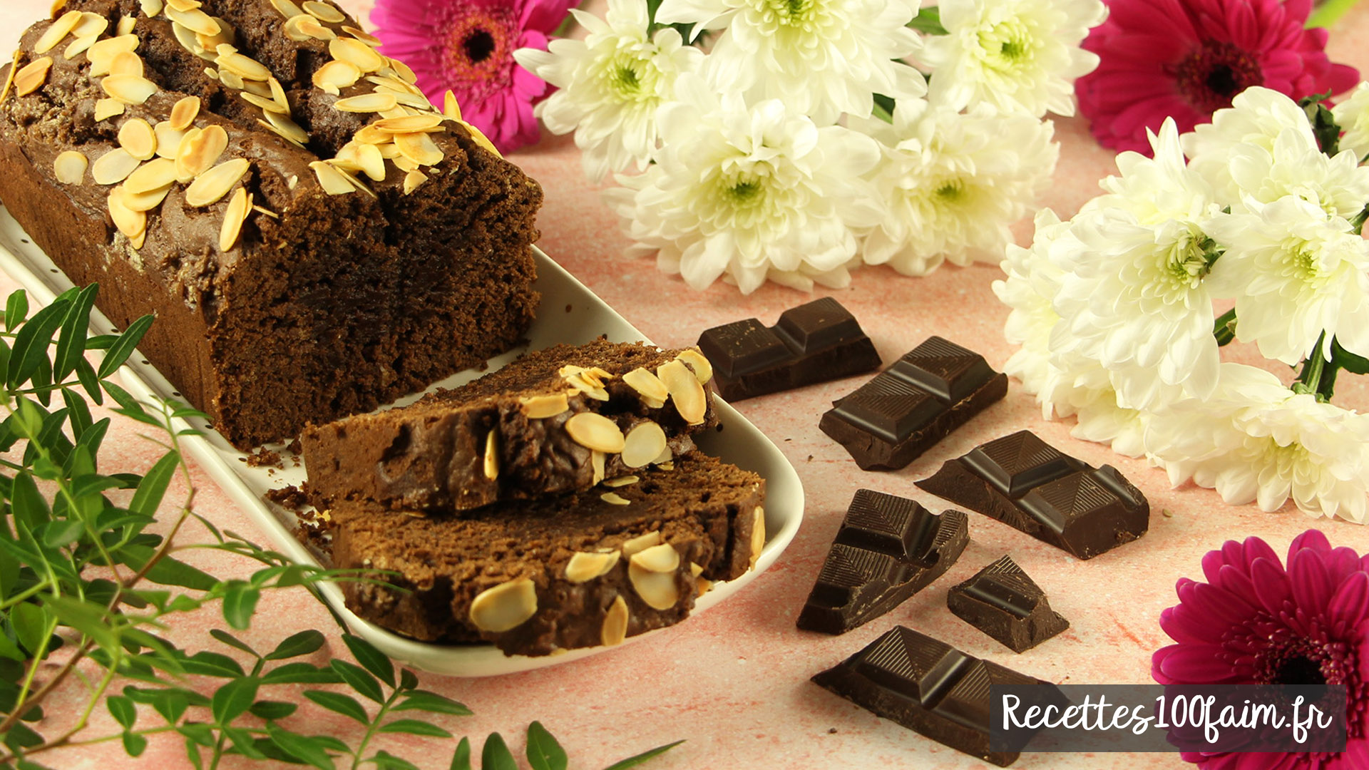 recette cake moelleux chocolat noir amandes