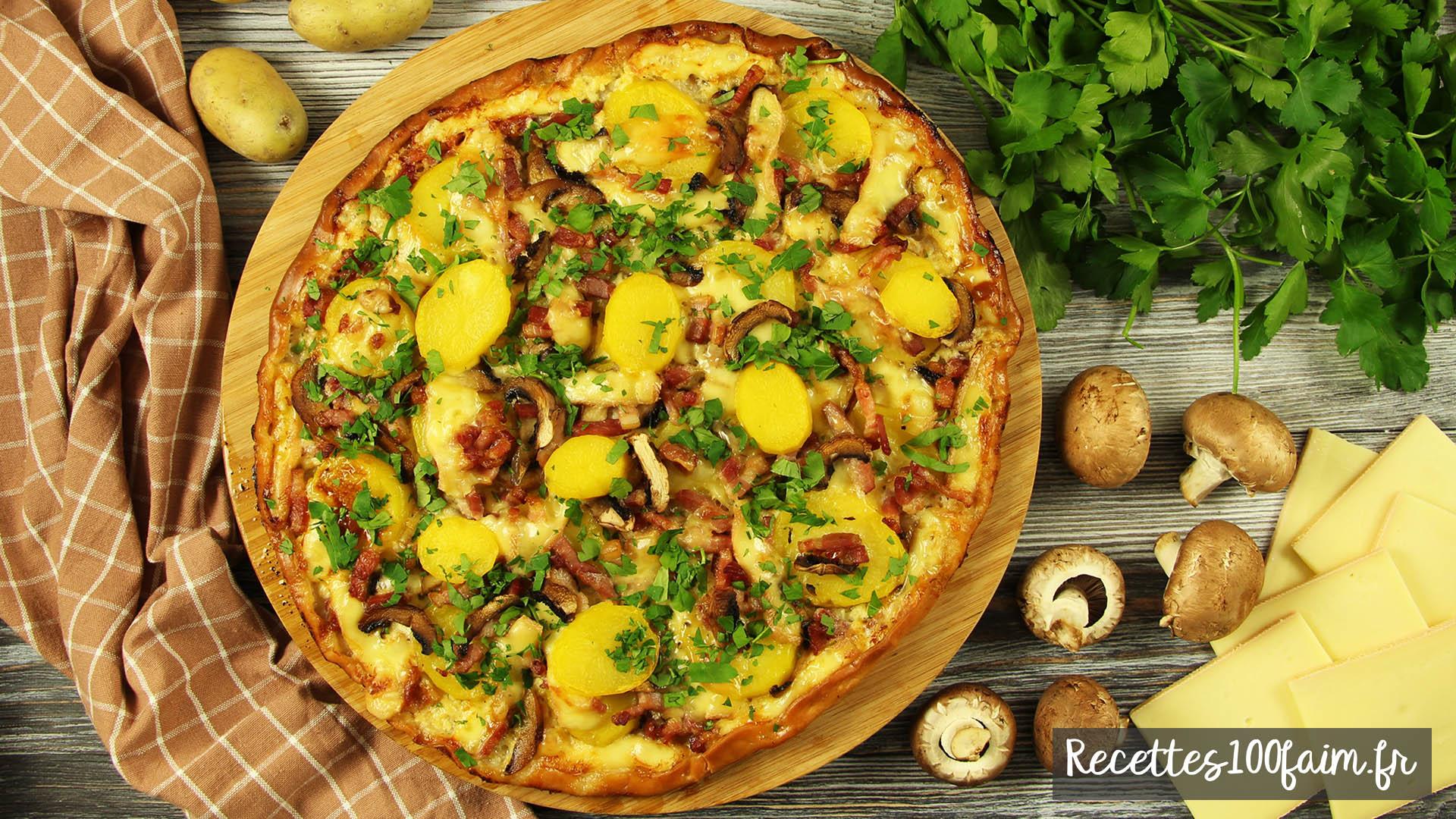 recette pizza raclette
