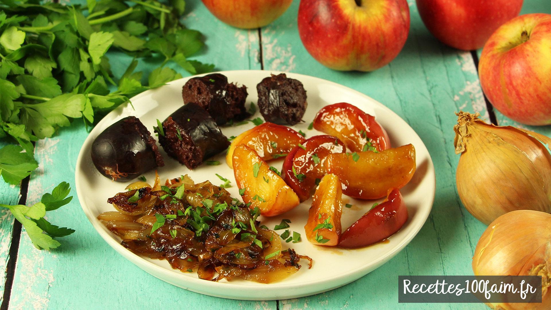 recette boudin noir pomme oiognon