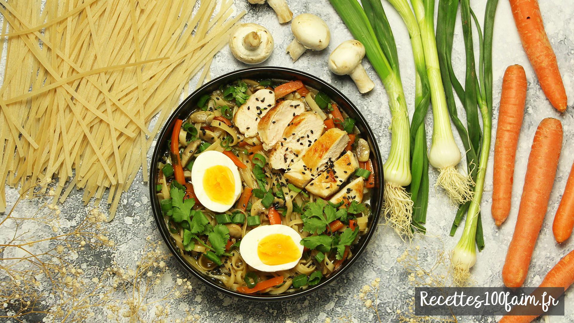 recette ramen poulet oeuf